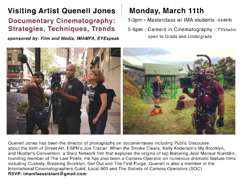 March 11th Quenell Jones poster