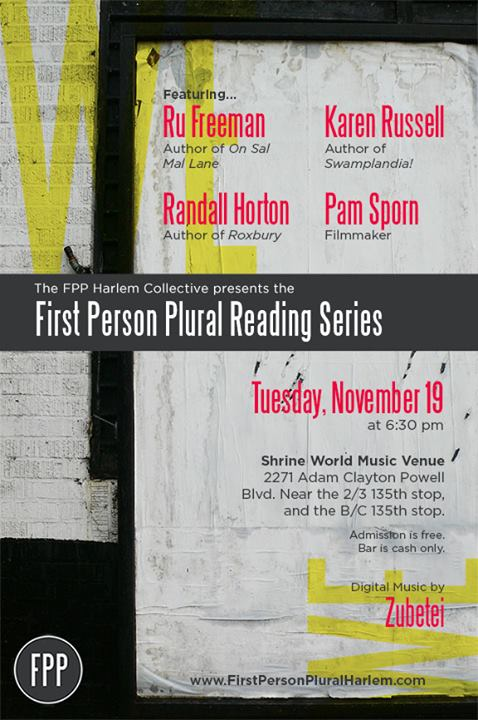 event information for the First Person Plural Reading Series
