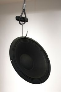 Speaker on hook