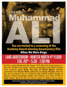 Muhammad Ali film screening poster