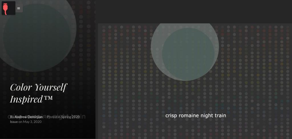 screenshot of poem