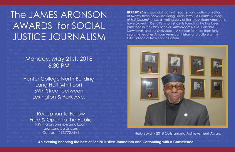Aronson Awards 2018 Poster