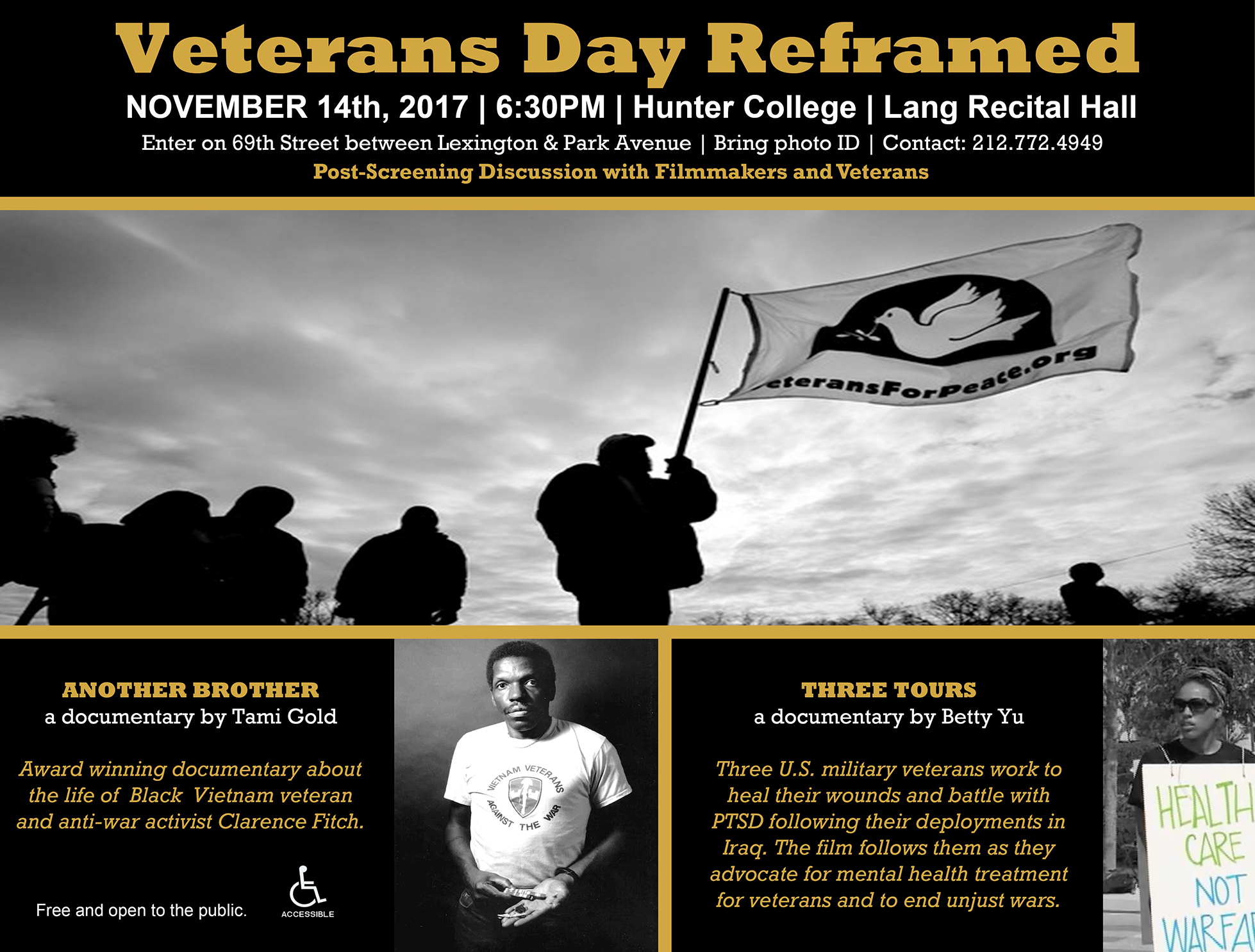 Nov. 14th screening – Veteran's Day Reframed