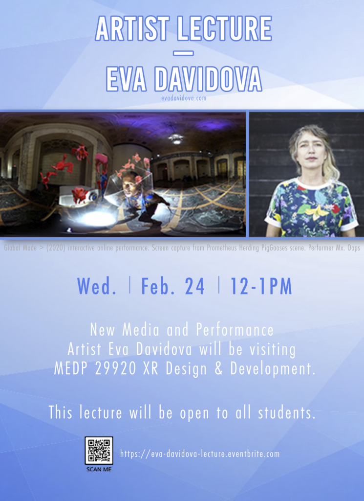 Artist Lecture poster Eva