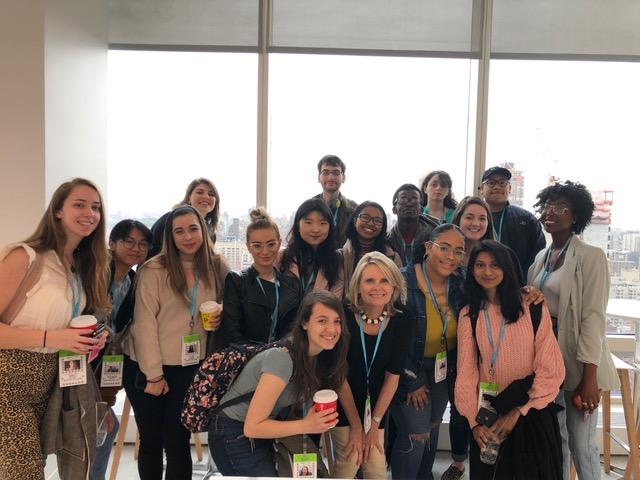 group photo at Bloomberg