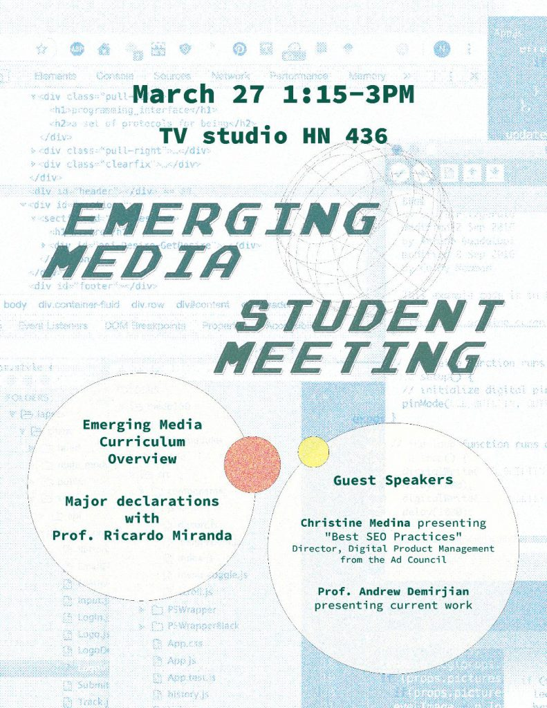 Emerging Media poster - by Nahee Kim