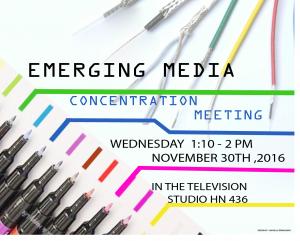 emerging media flyer