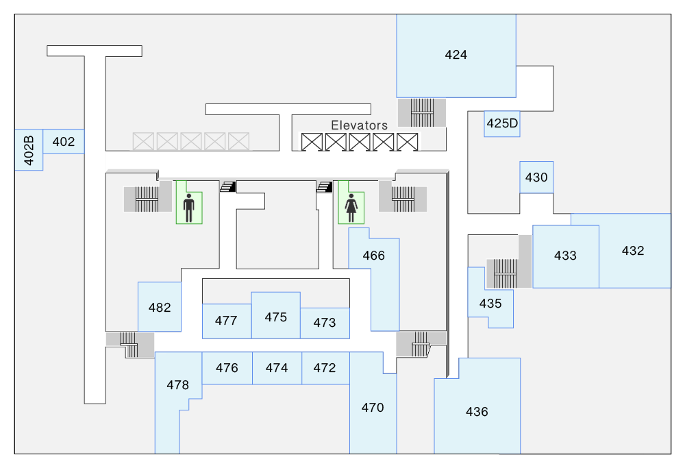 HN 4th Floor Map