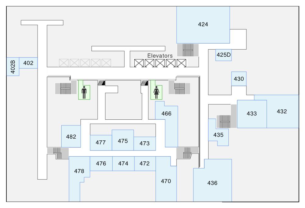 HN 4th Floor Map