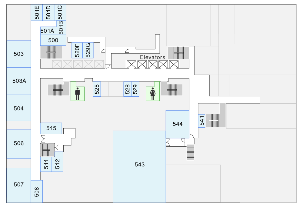 HN 5th Floor Map