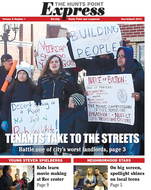 March cover of Hunts Point Express