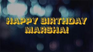 Happy Birthday Marsha graphic