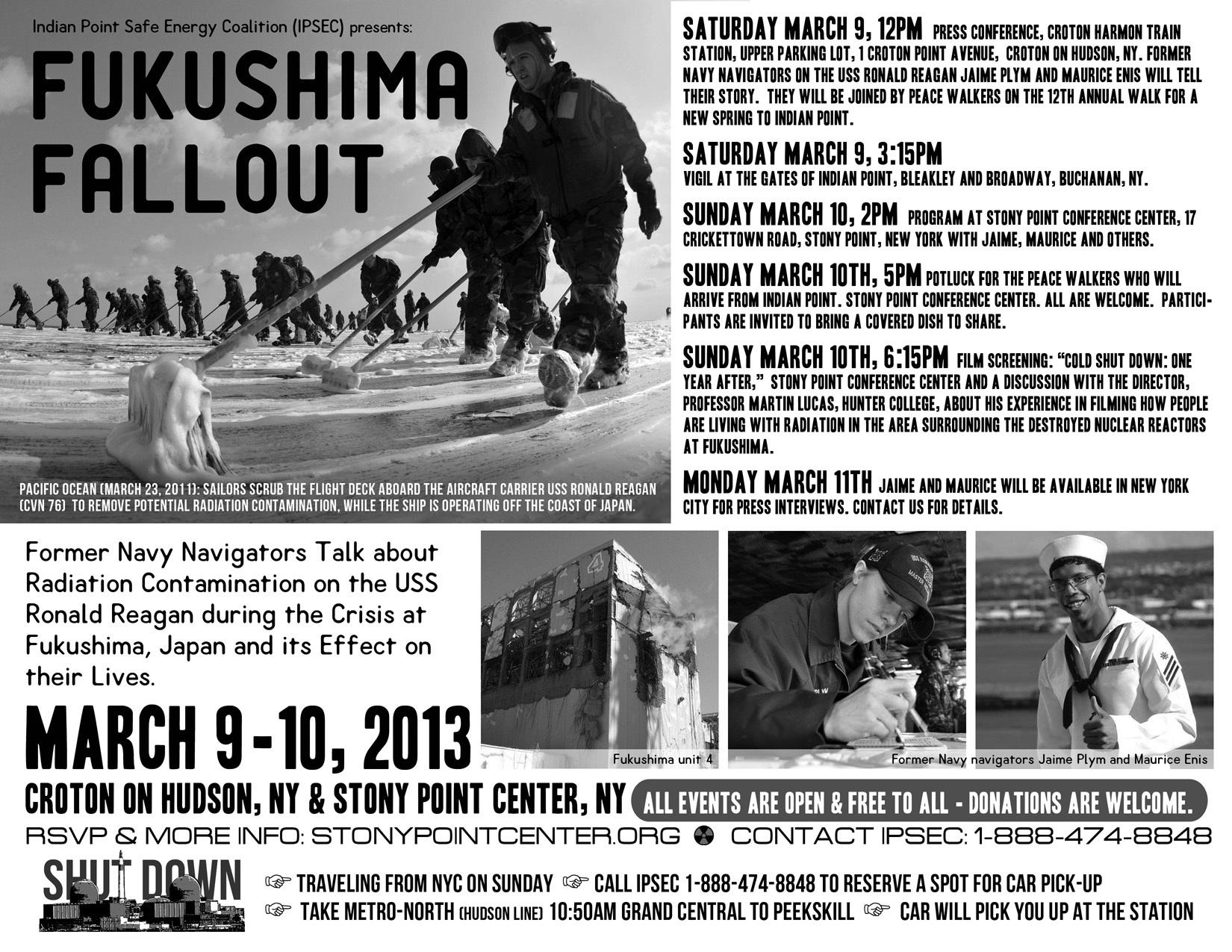 Fukushima Fallout flyer