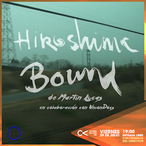 Flyer for the film Hiroshima Bound