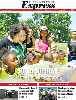 August/September cover of Hunts Point Express