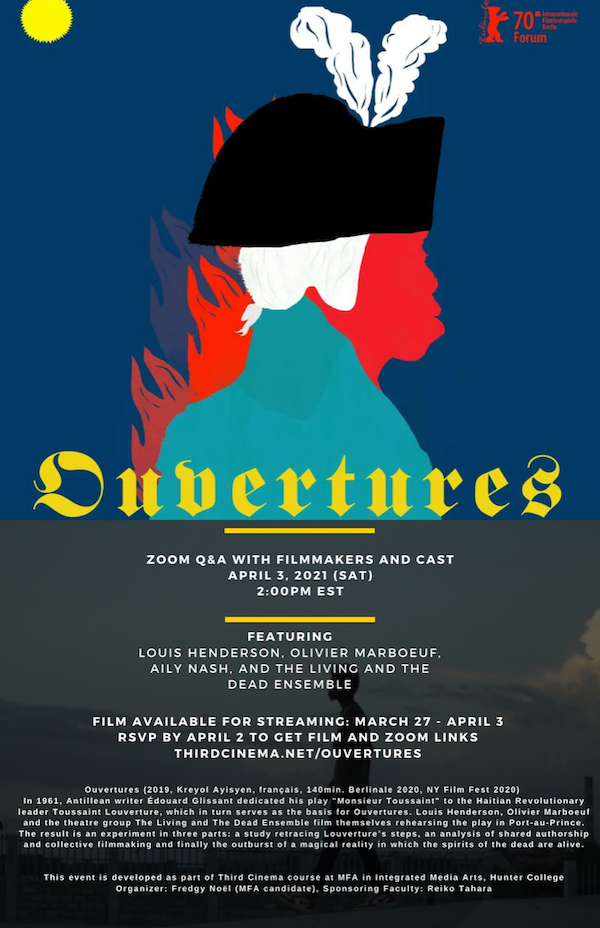 Ouvertures event poster