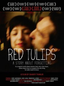 Poster for the film entitled Red Tulips