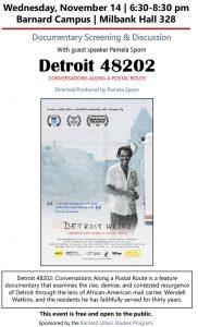 Pam Sporn screening poster