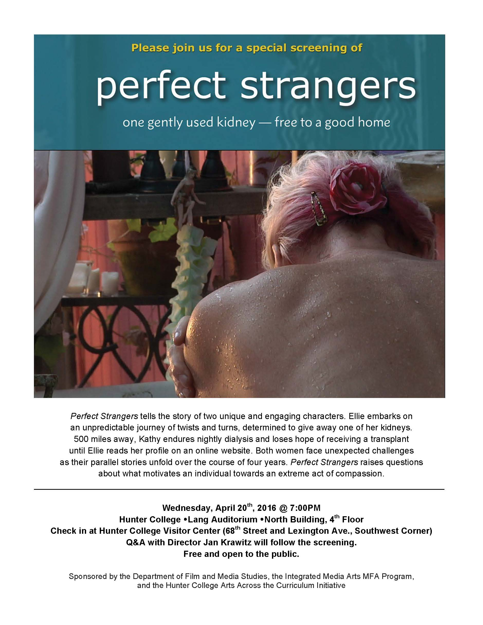 Flyer for the film Perfect Strangers