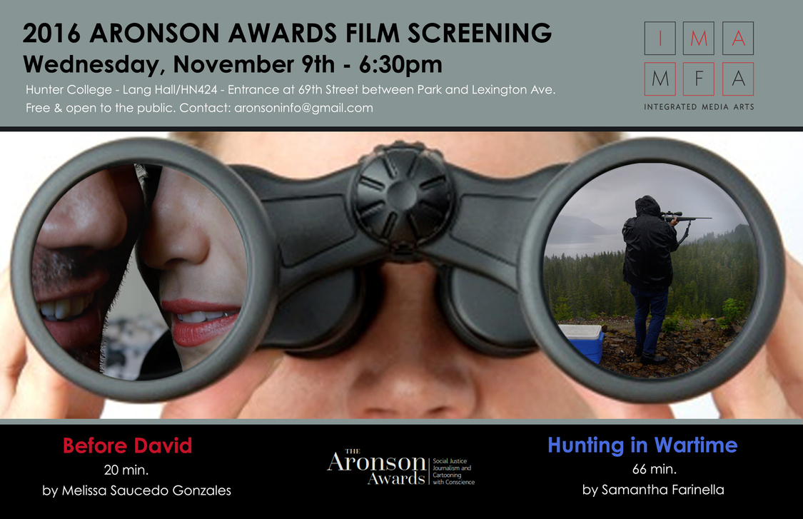 Poster for the Aronson Awards