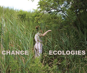 Chance Ecologies title graphic with an photo of a woman in a nature preserve