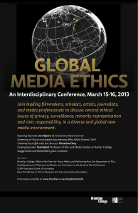 Global Media Ethics flyer