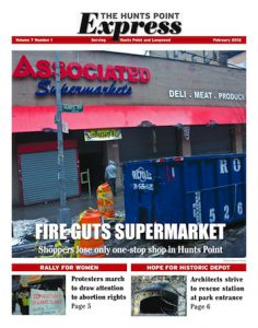 the Hunts Point Express front page for February 2012