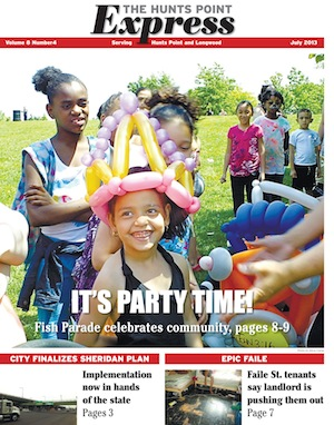 July cover of Hunts Point Express