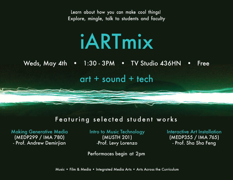 Flyer for the iARTmix event