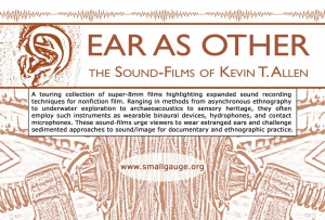 Flyer for Allen's Ear As Other Film