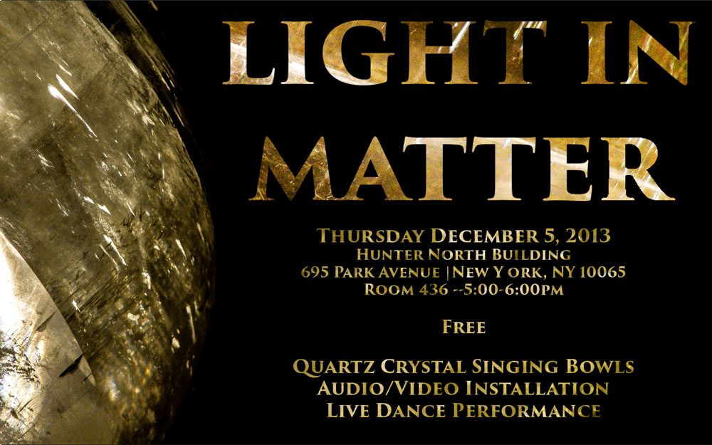 Event information about Light in Matter
