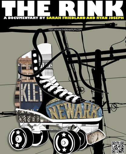 'The Rink' poster with a rollerskate