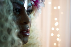 Mya Taylor (Tangerine) as Marsha P. Johnson on the set of HBDM! Photograph by Nathan Fitch.