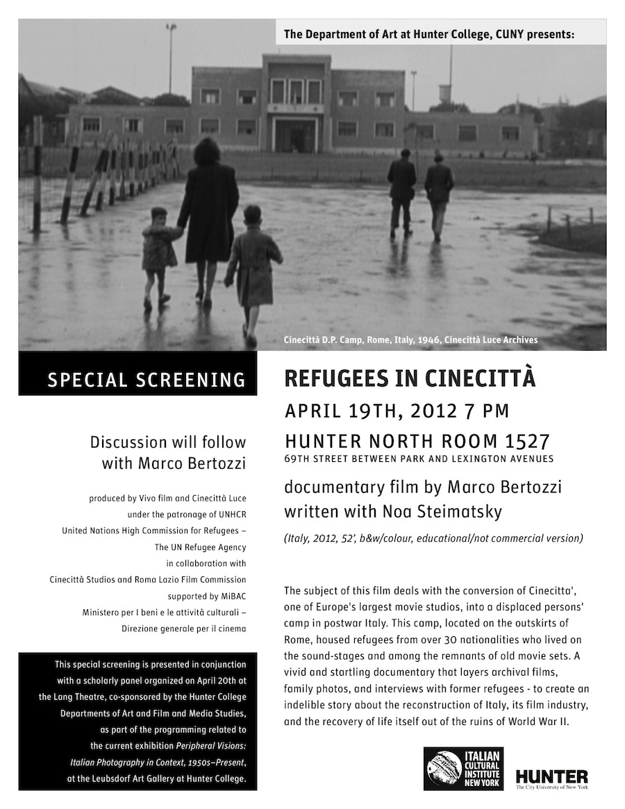 Refugees in Cinecitta poster