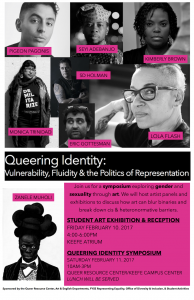 Flyer for the Queering Identity Symposium