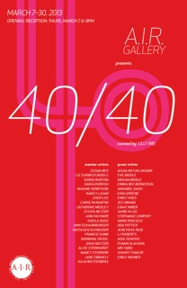 A.I.R. Gallery's 40/40 flyer