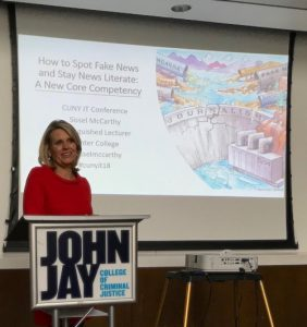 Prof. McCarthy presents at John Jay
