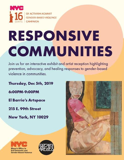Responsive Communities event poster