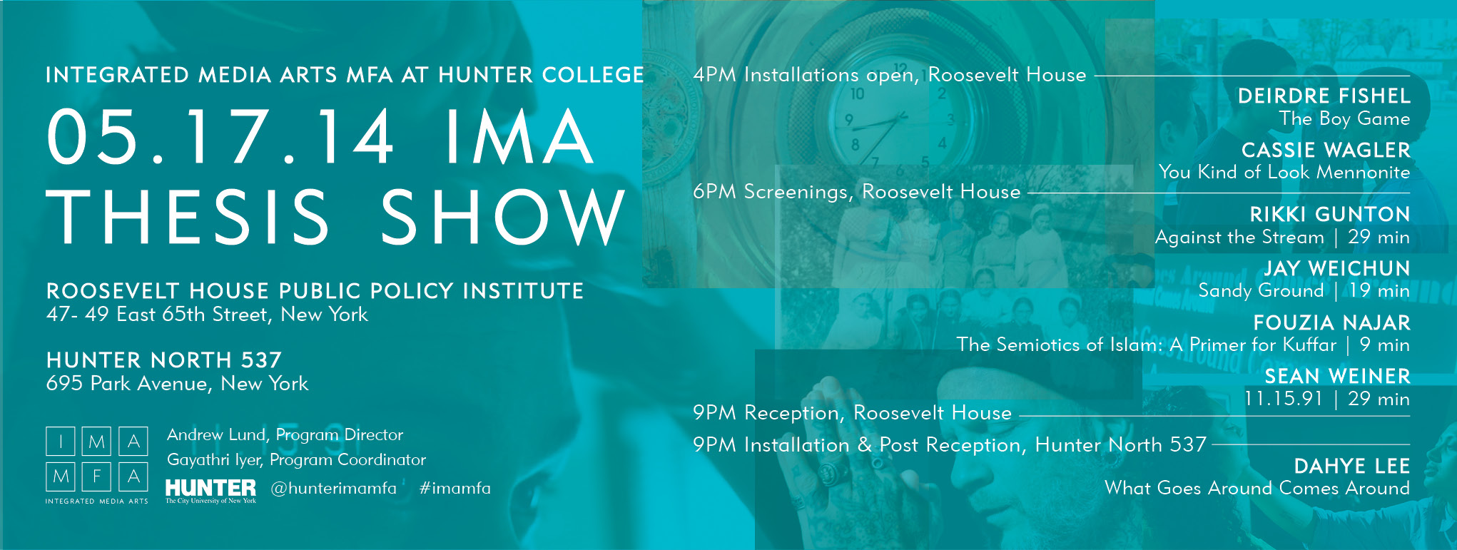 IMA Thesis Show Flyer