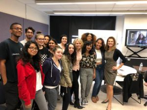 students with WNBC Mary Civiello