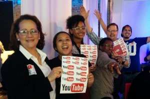 Hunter College Students at the Youtube University event