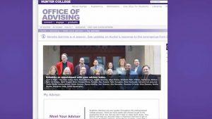 Hunter College Office of Advising helps Students Register Classes Virtually By Srija Rai 1-31 screenshot