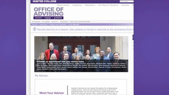 Hunter College Office of Advising helps Students Register Classes Virtually By Srija Rai 1-31 screenshot
