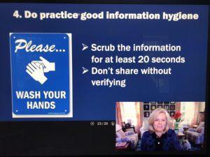 sign for hygiene