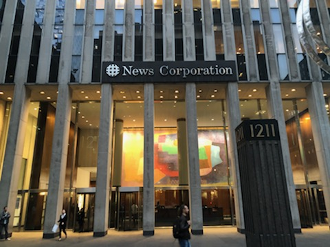 Wall Street Journal headquarters in Midtown Manhattan.