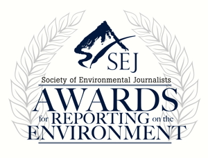 Reporting awards logo for Society of Environmental Journalists