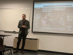 Journalist Danny Gold at Guttman Community College