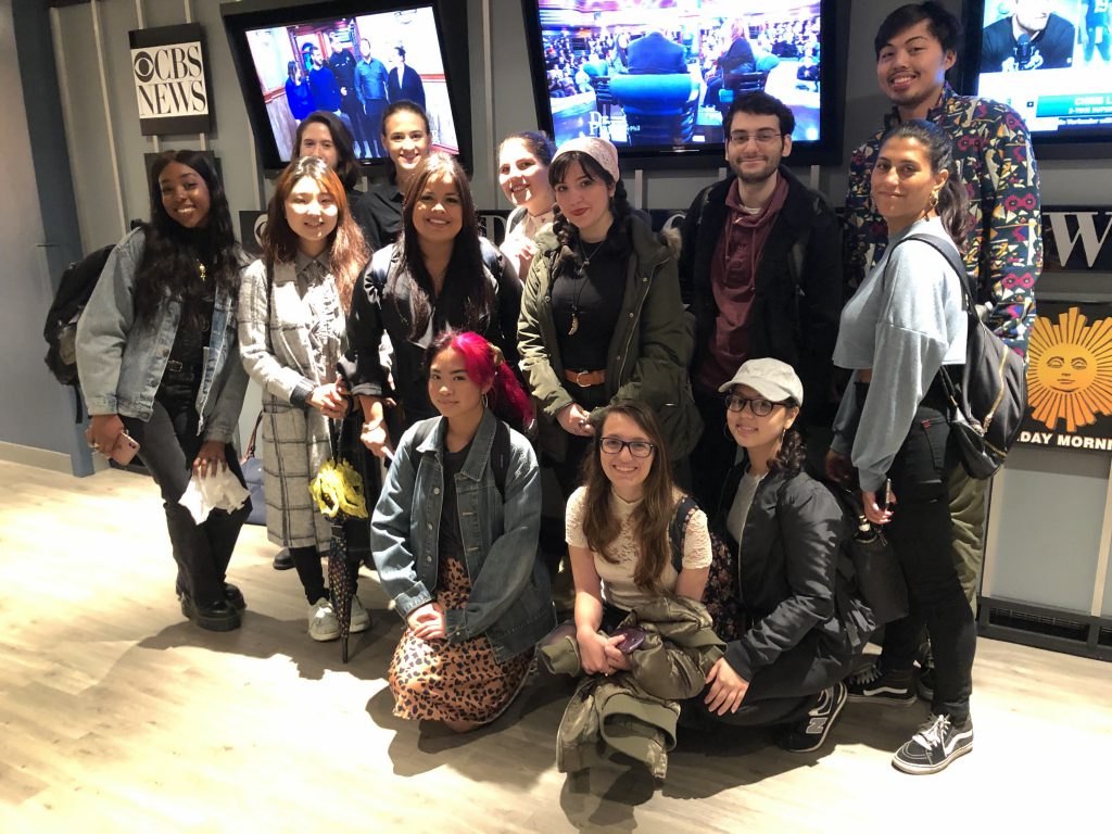 Students in Prof. Glenn's Online Journalism class wrap up their tour of CBS News operations.