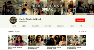 Hunter Students Speak screengrab