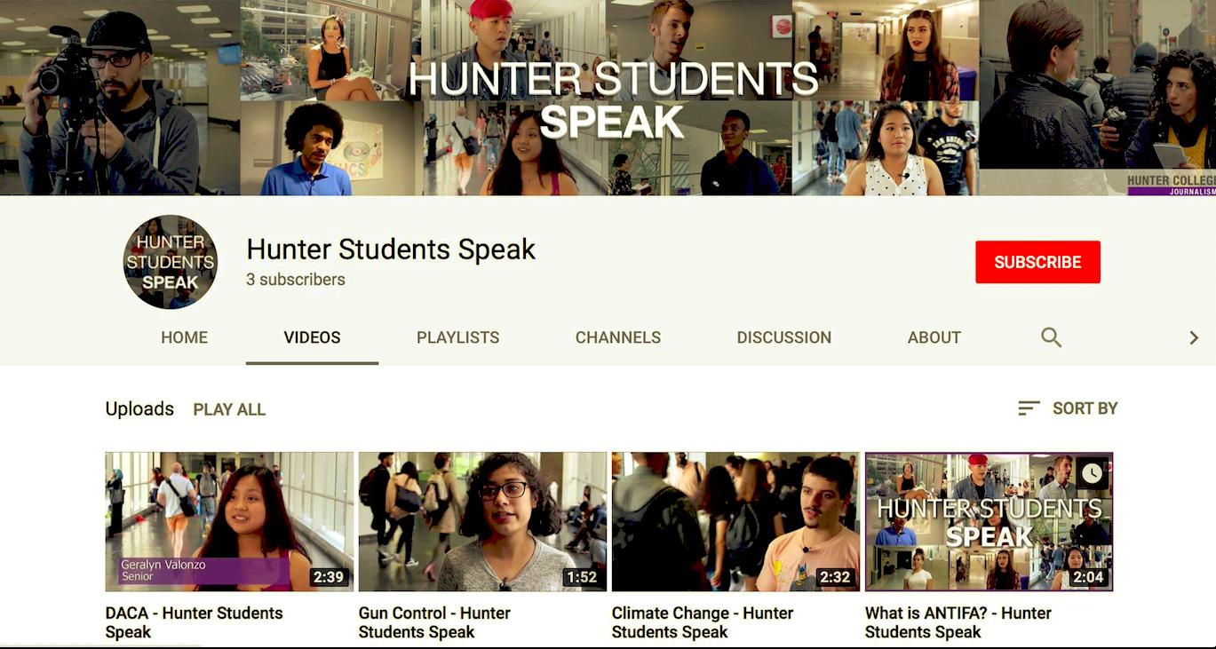 Hunter Students Speak screengrab